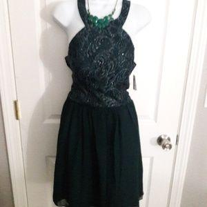 New Windsor dark green mini formal DRESS SIZE 11